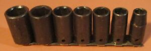 Sk 7 Piece 3 8 Drive 6 Point Deep Impact Socket Set 3 8 To 3 4 Made In Usa
