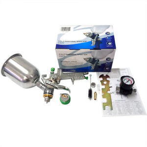 Hvlp Auto Paint Air Spray Gun Basecoat Car Clearcoat W Regulator Aluminum Kit