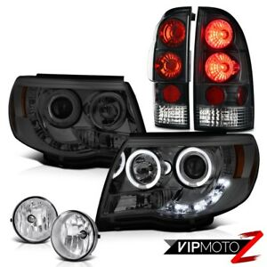Projector Smoke Headlights Rear Black Taillight Bumper Fog 2005 2011 Tacoma 4 0l