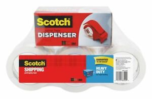 Scotch Heavy duty Shipping Packing Tape With Dispenser 1 88 X 54 6 Yd 6 pack
