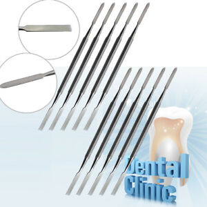 10x Dental Cement Spatula Wax Carving Amalgam Metal Stainless steel Oral Care Ce