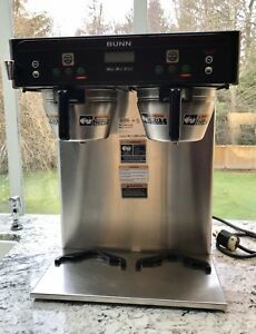 Tested Bunn Commercial Dual Airpot Coffee Brewer Maker Icb twin 5 6gal Tank