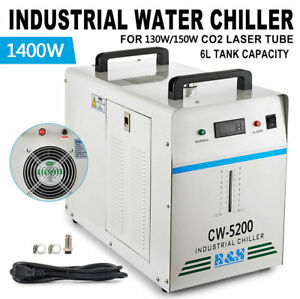 110v 60hz Cw 5200dg Industrial Water Chiller For One 130w 150w Co2 Glass Laser