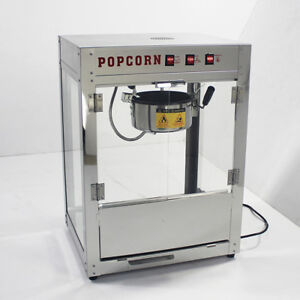 Asg 220v Electric Popcorn Machine Theatre Commercial Popper Maker Tabletop 8 Oz