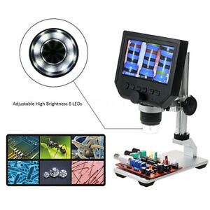 Digital Hd 600x Microscope 4 3 Inch Display Usb Endoscope Magnifying Camera