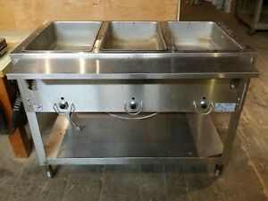 Duke E303 M Aerohot Commercial 3 Well Buffet Steam Table Food Warmer 120v 1500w
