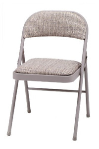 Meco 4 pack Deluxe Fabric Padded Folding Chair Chicory Lace Frame And Motif And