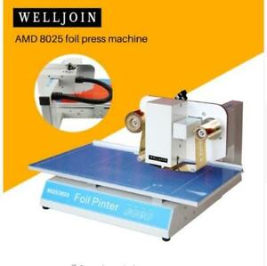 Amd 8025 Foil Press Machine Digital Hot Foil Stamping Printer Machine Ribbon Foi