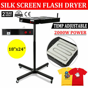 18 X 24 Flash Dryer Silkscreen Printing Heavy Duty Prints 360 Swivel Head Diy