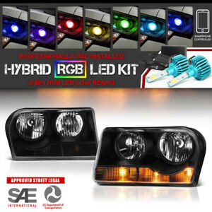 Adjustable Color Led Low Beam 05 08 Chrysler 300 Base Touring Plus Lx Headlamp