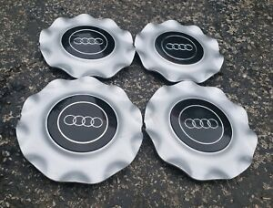 Set Of 4 Oem 1992 99 Audi 100 A6 S6 Cabriolet 10 spoke Wheel Center Caps Hubcaps