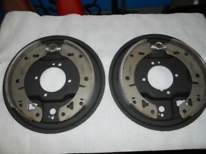 Mgb Rear Brake Backing Plates And New Brake Shoes