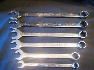Matco Tools 6 Piece 12 Point Combination Wrenches Set Model Wcl Sae