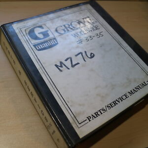 Grove Crane Mz76 Manlift Repair Shop Service Parts Manual Book Boom Telescoping
