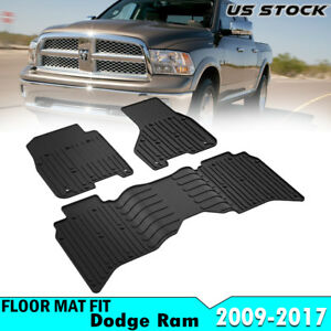 Floor Mats Fit 13 17 Dodge Ram Oem Set 1500 2500 3500 Front Rear Rubber Liner