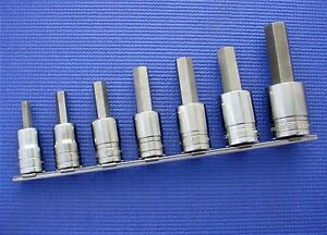 Snap on 7 Piece Sae 1 2 Drive Hex Allen Socket Driver Set 5 16 3 4 307esay