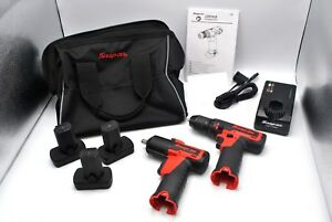 Snap On Tools 3 8 14 4v Microlithium Impact Wrench Ct761a Drill Cdr761b Kit