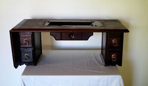 Antique 1884 New Home Treadle Sewing Machine Cabinet Guc 135 Yrs Old