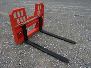 Kubota Skid Steer Attachment 48 4 000 Lbs Walk Through Pallet Forks Ship 149