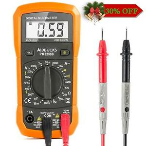 Digital Multimeter Ac dc Voltage Tester Current Measure Electrician Tools Lcd