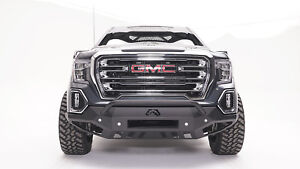 Fab Fours Gs19 D6052 1 In Stock Vengeance Front Bumper 2019 Gmc Sierra 1500