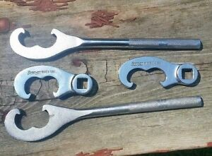 Lot Of 4 Snap On Tools Tie Rod Adjusters Wa 10a 11a 12a 13a Wrench Set