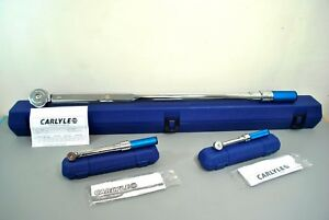 Carlyle Napa Tool 1 4 3 8 3 4 Click Torque Wrench 3pc Set Over 1200 Value