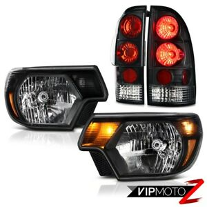 2012 2015 Toyota Tacoma X runner Raven Black Headlights Taillights Replacement