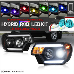 Adjustable Color Led Low Beam 12 15 Toyota Tacoma Headlights Trd Pro X Runner