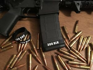 300 AAC BLACKOUT ID MAG BANDS PACK OF 5 - FREE SHIPPING!!!!