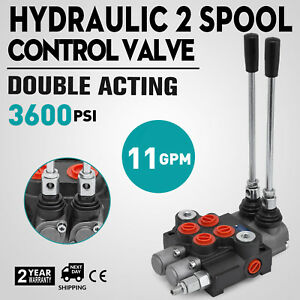 2 Spool Hydraulic Directional Control Valve 11gpm Motors Cylinder Spool