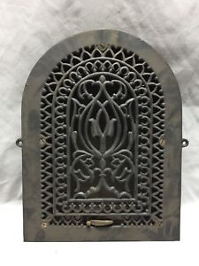 Antique Cast Iron Arch Gothic Heat Grate Wall Register 9x13 Dome Vtg 60 19d