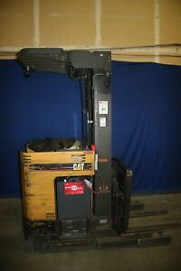 Used Cat Nrr40 Reach Fork Lift With New Battery 17773