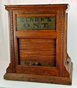 Rare Antique Clark S Ont Spool Cabinet Store Display