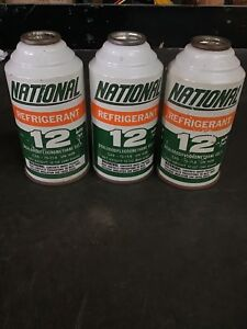 3 Full National Air R12 Refrigerant 12oz Cans New