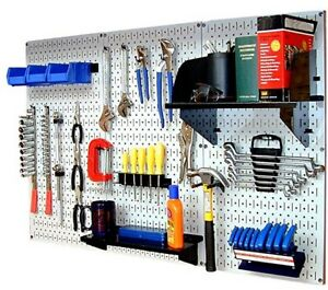 Metal Pegboard Tool Organizer Garage Workshop Wall Control Standard Workbench