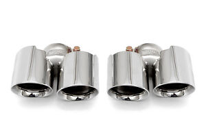 Fabspeed 991 Carrera Deluxe Quad Style Tips Non Pse Polished Chrome Tips