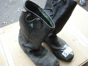 Kaufman Leather Firefighter Bunker Boots 9 5 l136