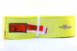 Ee2 904 X8ft Nylon Lifting Sling Strap 4 Inch 2 Ply 8 Foot Usa Made Package Of 2