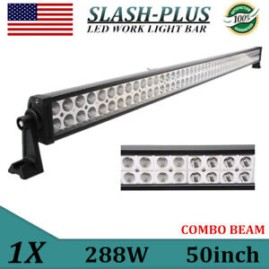 50 inch 288w Led Work Light Bar Combo Offroad Driving Truck Fog Lamp Bumper Slim