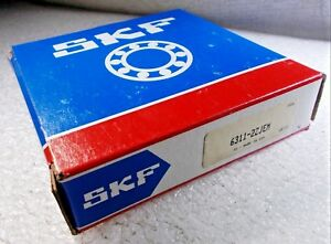 New Skf 6311 2z Jem Double Shield Deep Groove Single Row Ball Bearing 6311 2z c3