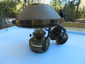 Vintage Brass Gimbal Wall Ship Or Rail Road Light