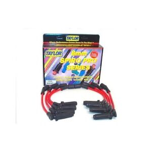 Taylor Cable Spark Plug Wires Spiro pro 8mm Red Stock Boots Chevy 8 1l V8 Set