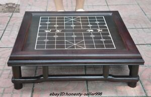 23 Chinese Rosewood Wood Carved Weiqi Of Go Chessboard Chess Checkerboard Tables