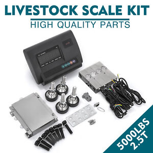 5000lbs Livestock Scale Kit For Animal Platform Scales Indicator Alloy Steel