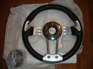 1966 1977 1976 1977 Early Ford Truck Bronco Steering Wheel Script Leather Tom S