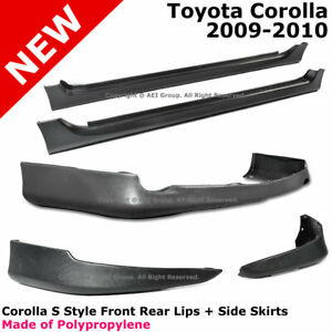 Toyota Corolla 09 10 S Style Full Set Lower Body Kit Lip Spoiler Pp Side Skirt
