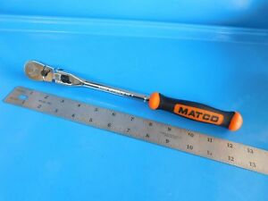 New Matco Tools 3 8 In Dr Locking Flex Head Orange Ratchet part Fr128lfm