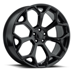 Factory Reproductions Fr 71 Chrysler 300 Rim 22x9 5x115 Offset 18 Blk Qty Of 1