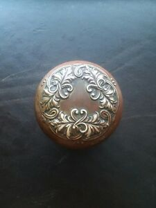 Beautiful Antique Brass Bronze Door Knob Victorian Eastlake Lorraine Solid